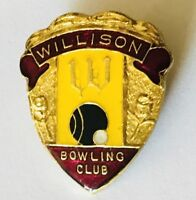 Willison Bowling Club Badge Pin Rare Vintage (M2)