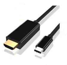 USB Tipo C para HDTV HDMI Cable Adaptador Para Samsung Galaxy S8 LG G5 G6 4K*2K Plus