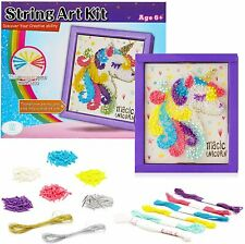 Unicorn String Art Craft Kit - DIY Canvas for Kids 9-12, Girls, Teens and Adults
