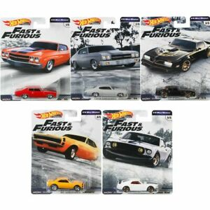 Fast & Furious 1/4 Mile Muscle   Hot Wheels Premium Set   Voitures Mattel GBW75