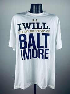 """Men's Under Armour Loose Regular Heat Gear Baltimore Ravens """"I Will"""" Shirt XL"""