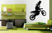 Wall Decal Room Sticker Sport Bicycle Dirt Bike Jump Race Speed Nursery bo2972