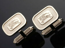 J3087ME Authentic Burberry Cufflinks & With Louis Vuitton Taiga Case *Good