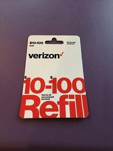 Verizon Wireless- $100.00Top-Up Airtime Card for Verizon Prepaid Service