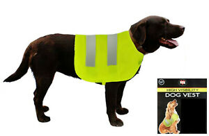 Pet Dog Hi Viz Fluorescent High Visibility Safety Vests Coat Jacket Medium Vis
