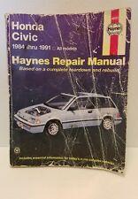 Haynes 42023 HONDA CIVIC Service Repair Manual 1984-1991 ALL MODELS