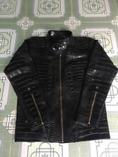 $18500 NEW HANDMADE SPECIAL Genuine CROCODILE Alligator Leather Jacket BLACK