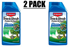 Lot of (2) BioAdvanced 32 oz. Concentrate Tree and Shrub Protect with Feed - NEW