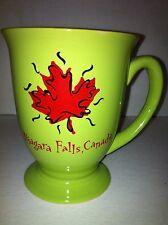 Niagara Falls Canada Green Pedestal Coffee Tea Cup Mug