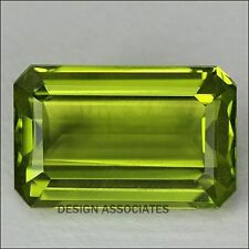 9X7 MM Emerald Cut Peridot All Natural Without Treatment
