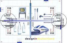BRD 1999: Design-bloque nº 50 con muy limpio Berliner sonderstempeln! 1a 1510
