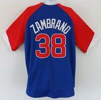 RARE~Majestic CHICAGO CUBS ZAMBRANO Baseball Jersey Shirt Top~Mens Sz XL