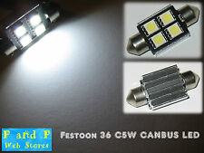 2x Festoon C5W 36mm Canbus Error Free Reg Dome 4LED Bulb Good Quality AC!