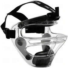 Markwort Game Face Large Clear Softball Safety Mask with Pony Tail Harnes Black