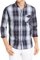 Levi's Mens Shirt Campanula Blue Size Large L Button Down Plaid Woven $54 223