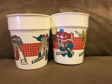 Vintage G1 Transformers Megatron & Starscream & Optimus Prime & Sunstreaker Cups