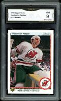 1990 Upper Deck #176 Viacheslav Fetisov RC Rookie Graded GMA 9 MINT ~ PSA 9 ?