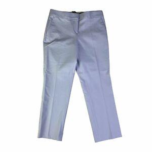 Ann Taylor Kate Fit Textured Light Sky Blue Trouser Pants Stretch Size 4