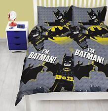 Lego Batman Movie Signal Double Duvet Quilt Cover Kids Boys Bedroom Bedding New