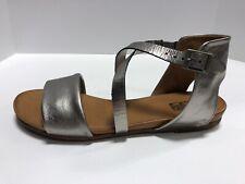 Miz Mooz Aster Pewter/Grey Leather Strappy Sandals Women's Size 9M