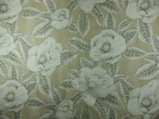 0.8 m Harlequin Floria Beige Taupe Grey Floral Linen Fabric Remnant Off cut