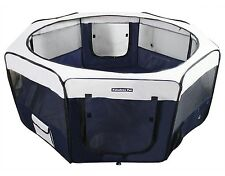 "55"" Portable Puppy Pet Dog Soft Tent Playpen Folding Crate Pen New - Navy"