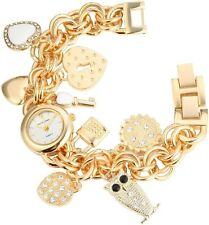 Damenuhr Silber Gold Strass Eule Herz Schloss Schlüssel Analog X-1800031-003