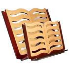 LEGGIO IN LEGNO DA TAVOLO SMALL BOOK MADE IN EUROPE IN MOGANO DESIGN LIBRO CON P