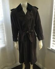 Vintage Burberry London Prorsum Trench Coat Brown Made In England 40 Short S