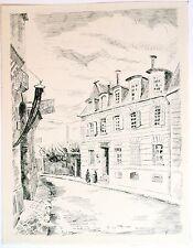 Eau forte originale de Ceria, Rue de Passy