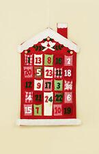 56 Cm Noël Maison Tissu Calendrier de L'Avent avec Poches pour Treats