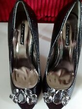 NEW Ladies BELLE WOMAN black Evening Shoes Size 37 /4