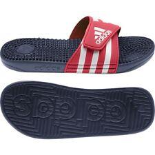 Mens Adidas Adissage Red / White Slides Athletic Shower Sandal EG1904 Sizes 8-12