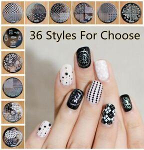 36 Styles Nail Art Stamp Template Stamping Plates Lace Tartan UK