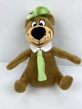"Yogi Bear Brown Green Derby Tie Vintage Hanna Barbera Plush 9"" Toy Lovey"