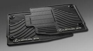 LEXUS OEM FACTORY  ALL WEATHER FLOOR MAT SET 2013-2015 ES350 & ES300H BLACK