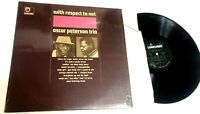 With Respect To Nat King Cole by Oscar Peterson  LP MONO IN SHRINK  jazz VG+