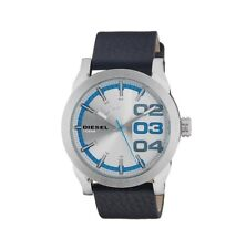 DZ1676 New Genuine DIESEL Double Down Watch on Black Leather RRP £125