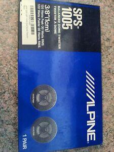 Alpine SPS-1005 3/8 Inch Car Dome Tweeter 1 Pair