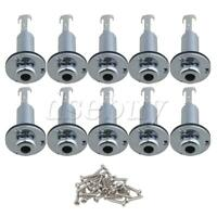 """10pcs Chrome 1/4"""""""" Plugs End Pin Stereo Output Jack for Guitar bass"""