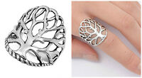 """Sterling Silver 925 PRETTY WOMENS""""TREE OF LIFE""""DESIGN SILVER RING SIZES 4-13"""