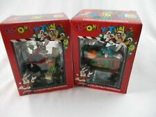 "Looney Tunes ""Bugs on Tv"" & ""Bugs List"" Ornaments. Vintage 1996. 2 pieces. #2133"