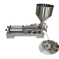 110V Dual-purpose Paste Liquid Filling Machine 100-1000ml with 2 Nozzle