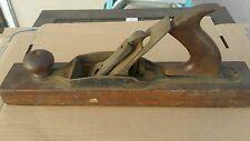 "Vintage Antique Wood Block Plane Carpentry Planer Hand Tool 15"""