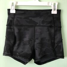 """Lululemon In Movement Shorts Everlux 2.5"""" Size 4 Incognito Grey Camo High Waist"""