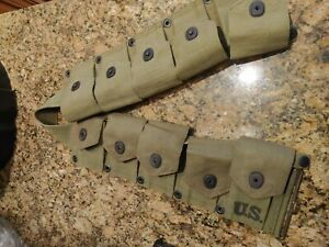 M1 Garand Ammo Belt WWII 1941 Vintage collectible. Functional and authentic.