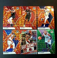 2019-20 Mosaic Basketball 6 Card lot  Green and Orange inserts All Prizm