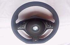 BMW E46 M3 M5 X5 Alcantara Steering Wheel ///M Stitch Carbon Fiber Flat Bottom
