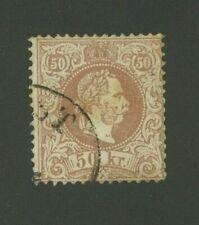 Austria 1867 50kr Scott 33 used, Value = $130.00