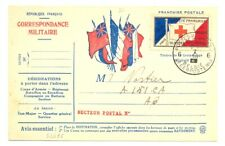 FRANCE 1916 SPEC RED CROSS CARD + POSTER ST. USED IN BELGIUM --VF